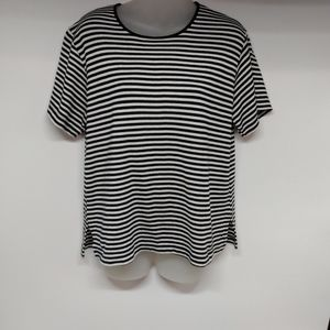 Jason Maxwell women's size Medium striped t-shirt